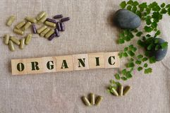 Organic herbal medicine royalty free stock image