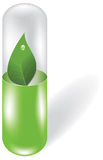 Herbal pill. On white background. Vector illustration Stock Photos