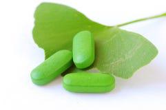 Herbal pills Royalty Free Stock Photos