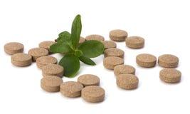 Herbal pills Royalty Free Stock Image