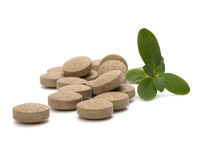 Herbal pills Royalty Free Stock Image