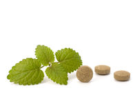 Herbal pills Stock Images