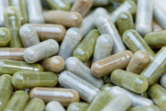 Herbal Pills Stock Photography