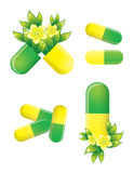 Herbal pills, alternative medicine Stock Photo