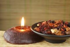 Herbal pot-pourri Stock Images