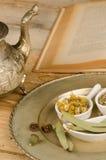 Herbal recipe stock photos