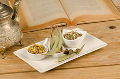 Herbal recipe Stock Image
