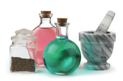 Herbal remedy stock image