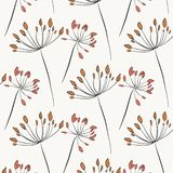 Herbal rustic texture. Botanical natural art with flower blossom in pastel colors. Elegant leaf garden illustrations. Greenery. Herbal rustic texture. Botanical stock illustration
