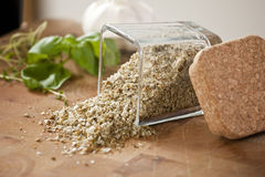 Herbal Salt Royalty Free Stock Photography