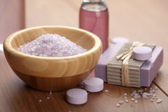 Herbal Salt And Soap Royalty Free Stock Image