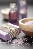 Herbal Salt And Soap Stock Photography