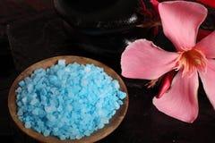 Herbal salt and spa stones Stock Photo