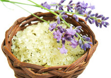 Herbal sea salt Stock Images