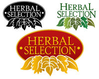 Herbal Selection Seal stock illustration