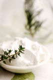 Herbal skin treatment Stock Image