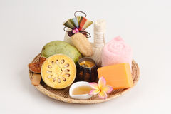 Herbal Soap, Fresh Bael and honey aroma to relax. Stock Photography