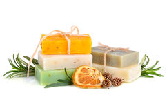 Herbal soaps Royalty Free Stock Photography