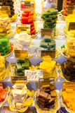 Herbal soaps. In the Spice Market in Istanbul, Turkey Stock Photo