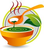 Herbal soup logo Stock Photo