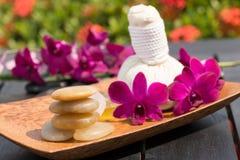 Herbal spa retreat stock photos