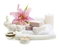 Herbal spa soap Stock Photography