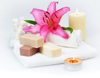 Herbal spa soap Royalty Free Stock Image