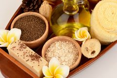 Herbal spa treatment with good skin care. Royalty Free Stock Photos