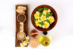 Herbal spa treatment with good skin care. Royalty Free Stock Images