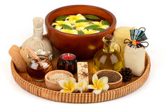 Herbal spa treatment with good skin care. Stock Photos