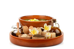 Herbal spa treatment with good skin care. Stock Photo