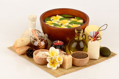 Herbal spa treatment with good skin care. Stock Image