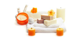 Herbal spa zeep Stock Fotografie