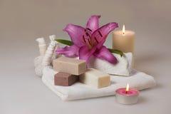 Herbal spa zeep Royalty-vrije Stock Foto