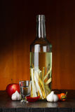 Herbal and spices flavored vodka Stock Photo