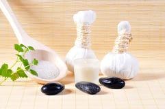 Herbal stamp massage Royalty Free Stock Image