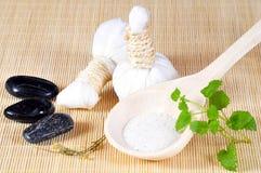 Herbal stamp massage Stock Photo