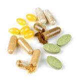 Herbal Supplement Pills Royalty Free Stock Images