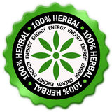 Herbal symbol. Herbal green sign isolated over white Vector Illustration