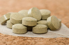 Herbal tablets Stock Photo