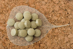 Herbal tablets Royalty Free Stock Photo