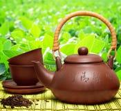 Herbal tea. On bamboo still life Stock Photo