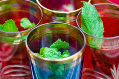 Herbal Tea. In a glass of hot water Stock Images