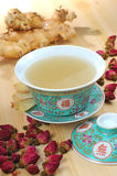 Herbal Tea. Chinese traditional herbal tea and herbs Stock Photos