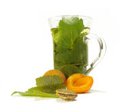 Herbal Tea And Apricots Royalty Free Stock Images