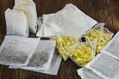 Herbal tea bags Royalty Free Stock Image