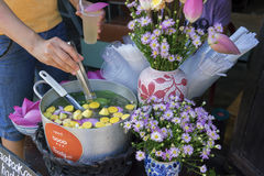 Herbal tea. A beautifully decorated corner selling herbal tea in Hoi an, Vietnam Stock Photo