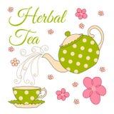 Herbal tea card Stock Photography