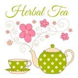 Herbal tea card Royalty Free Stock Photos