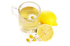 Herbal tea and chamomile Royalty Free Stock Images